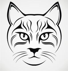 Cat face tribal vector
