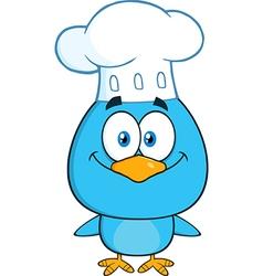 Chef bird cartoon vector