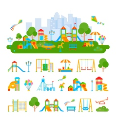 Childrens Playground Constructor Composition vector image vector image