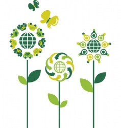 environmental flowers vector image vector image