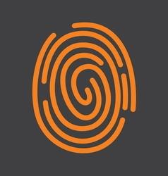 fingerprint icon1 vector image vector image