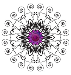 Floral Ornament Pattern vector image