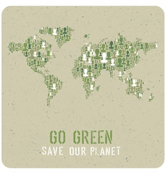 go green poster vector image vector image