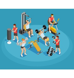 Gym isometric template vector