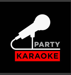 Karaoke party minimalistic promotional poster with vector