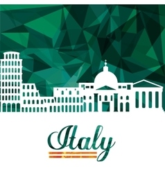 Landmark icon italy culture design vector