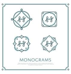 Letter h monogram vector