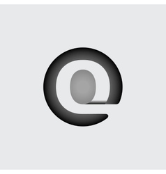 Letter Q Made of wide white stripes vector image