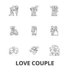 love couple romantic love heart kissing love vector image vector image