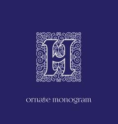 Monogram h vector
