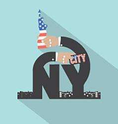 New york city typography design vector