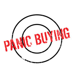Panic buying rubber stamp vector