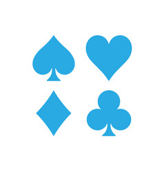 Poker card suits - hearts clubs spades and vector