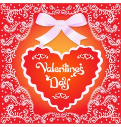 postcard on Valentines day vector image vector image