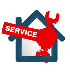 Repairs in the house symbol vector