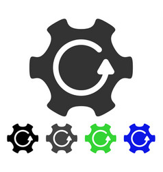 Rotate gear flat icon vector