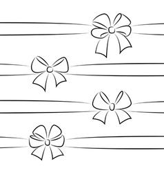 Sketch bows and ribbons vector