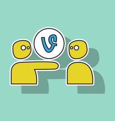 Sticker vine icon vector
