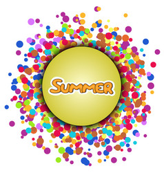 summer yellow lettering vector image vector image
