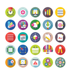web design and development icons 9 vector image vector image