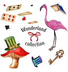 Wonderland set2 vector image