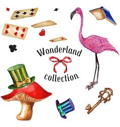 Wonderland set2 vector image vector image
