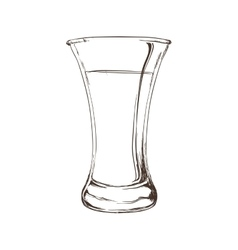 Sketch glass icon drink design graphic vector