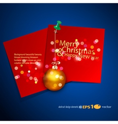holiday background with a red card vector image