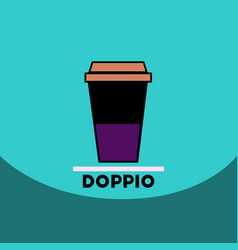 Flat icon design collection doppio to go vector