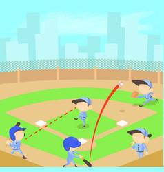 baseball concept cartoon style vector image