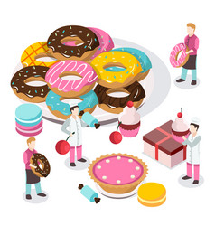 Sweet shop isometric composition vector