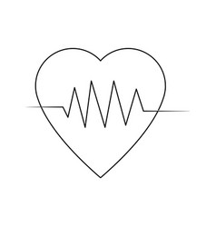 Heartbeat cardiology healthy medical symbol vector