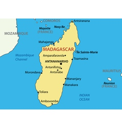 Republic of madagascar - map vector