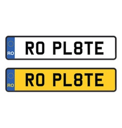 romania numberplate vector image