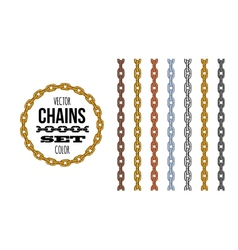 Different metallic material and color style chains vector