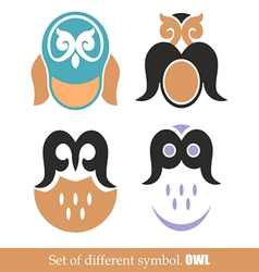 Set of symbols owl vector