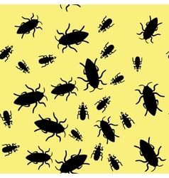 Beetle insect seamless pattern 664 vector