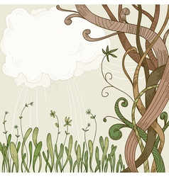 abstract fantasy tree vector image vector image