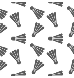 badminton seamless pattern on white background vector image vector image