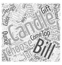Bills candles word cloud concept vector