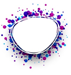 Blue and purple oval background vector