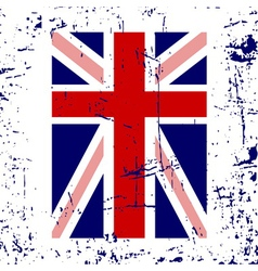 British flag cross white vector