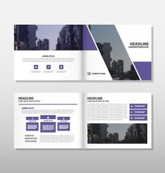 Brochure leaflet flyer annual report template set vector