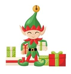 Elf Santa Claus Santa s elves preparing for vector image