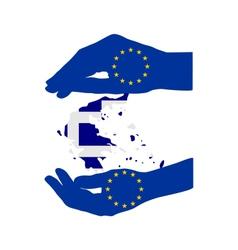 European help for greece vector