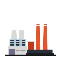 Factory building icon vector