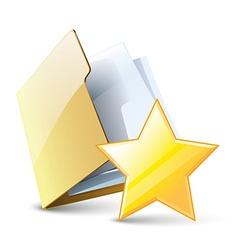 Favorite folder vector