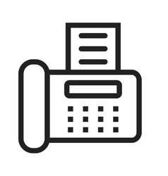 Fax machine vector
