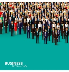 Flat of business or politics community a crowd of vector