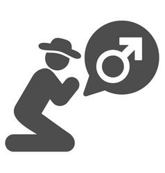 gentleman pray for potence flat icon vector image vector image